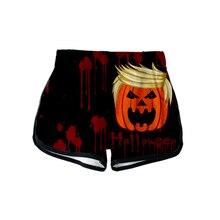 LUCKYFRIDAY New Halloween Print 3D Summer Cool Shorts Women Fashion Casual Short High Waist Feminino Breathable 2XL