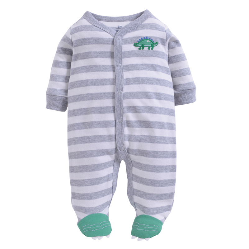 Rompers Search For Flights 3m-12m Baby Rompers Spring Warm Clothing Set For Boys Print Dinosaur Infant Girls Clothes Newborn Overalls Baby Jumpsuit