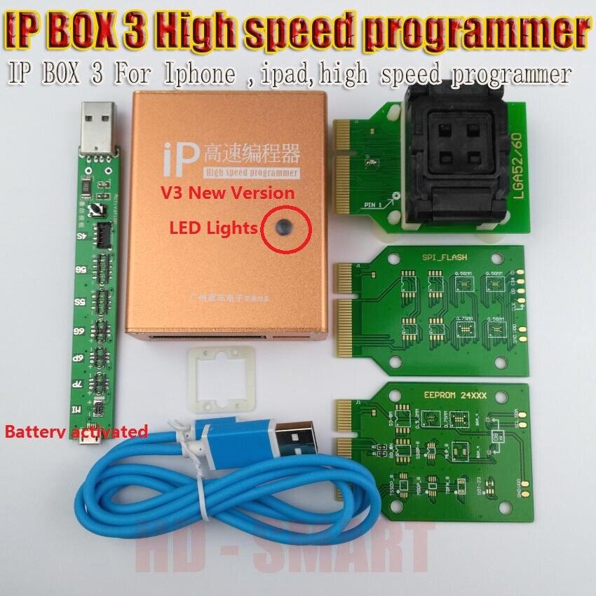 IP box v3 IP BOX 3 programmeur haute vitesse pour téléphone pad disque dur programmers4s 5 5c 5 s 6 6 plus outils de mise à niveau de mémoire 16g to128gb