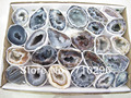 wholesale Geode agate 30pcs/lot Natural Gem stone drusy agate Geode