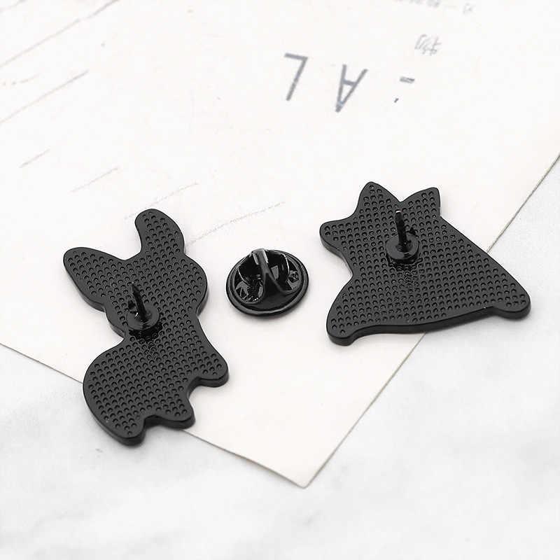 Kreatif Corgi Anjing Bros Wanita Hat Kerah Pin Pria Jaket Ransel Lencana Kualitas Tinggi Enamel Logam Bros Perhiasan