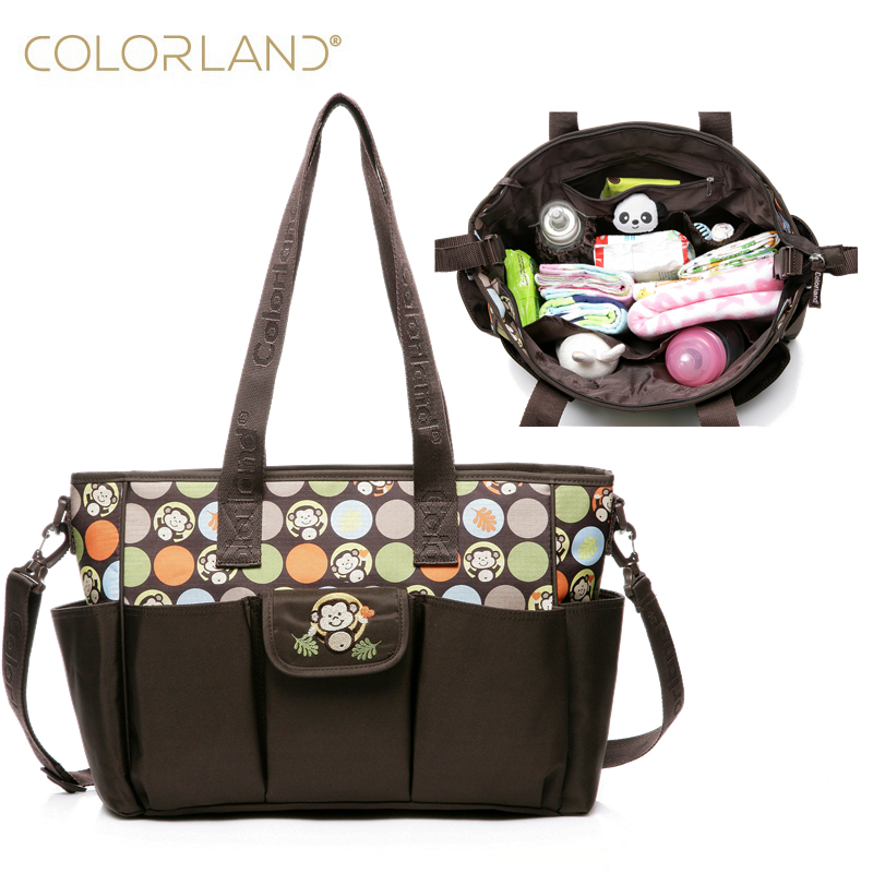Colorland baby mummy mother Maternity Changing Diaper Bag Organizer baby stroller mom handbag women messenger nappy bags new multifunctional diaper bags mother bag high quality maternity mummy nappy bags flower style mom handbag baby stroller bag