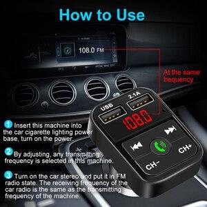 Image 5 - سيارة عدة بلوتوث يدوي لاسلكي FM الارسال TF بطاقة LCD مشغل MP3 شاحن USB مزدوج اكسسوارات السيارات شاحن الهاتف 2.1A