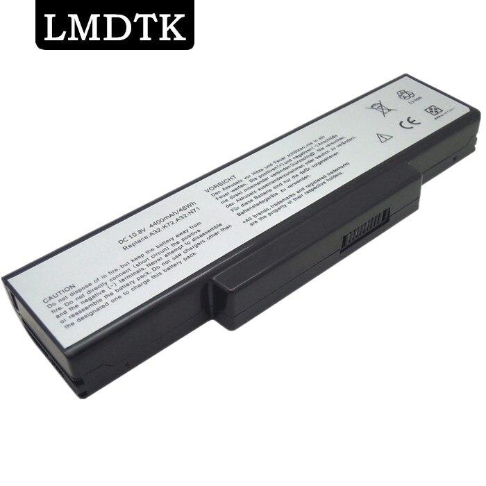 LMDTK nuevo 6 celdas de batería del ordenador portátil para ASUS K72 K73 A72 N71 N73 X77 serie A32-K72 A32-N71 70-NX01B1000Z envío gratuito
