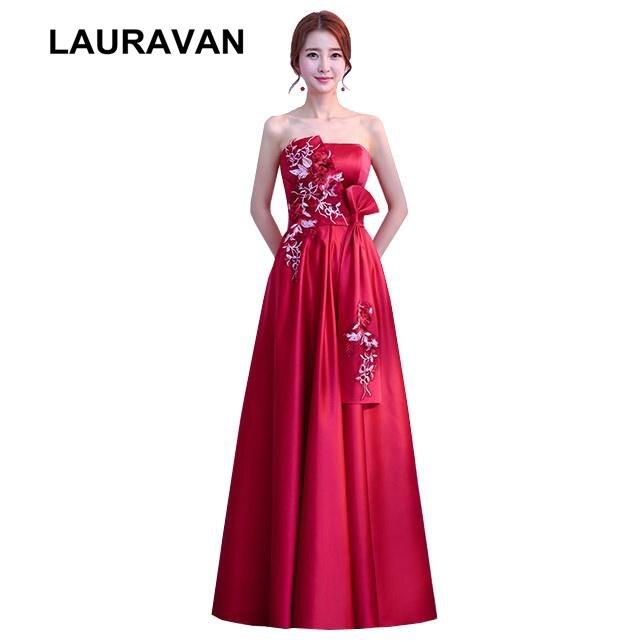 Sarcelle demoiselle d'honneur mariée femmes robe sans bretelles long vin rouge bourgogne élégant dame femmes longues demoiselles d'honneur robes réel 2019