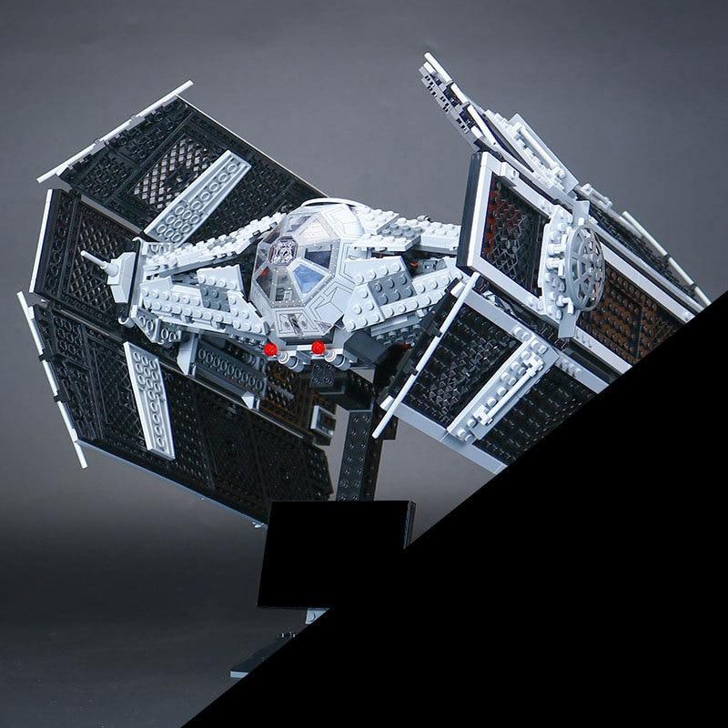 Lepin 05055 Serie Star El Rogue Uno USC Vader TIE Avanzado Juego de Combate 10175 Bloques de Construccion Ladrillos de Juguetes lepin 07056 775 unids genuino serie movie la transcursor bat nave espacial conjunto de bloques de construccion ladrillos 70908