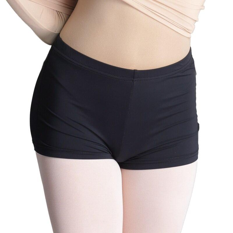Professional Girls Adult Ballet Dance Shorts Black Full Cotton Women Boxer Pants For Dancing