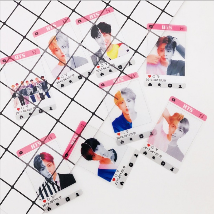 Beads & Jewelry Making Jewelry Findings & Components Kpop Bts Love Yourself Answer Pvc Clear Photo Card Jimin Suga Hd Photocard 8pcs/set Be Friendly In Use