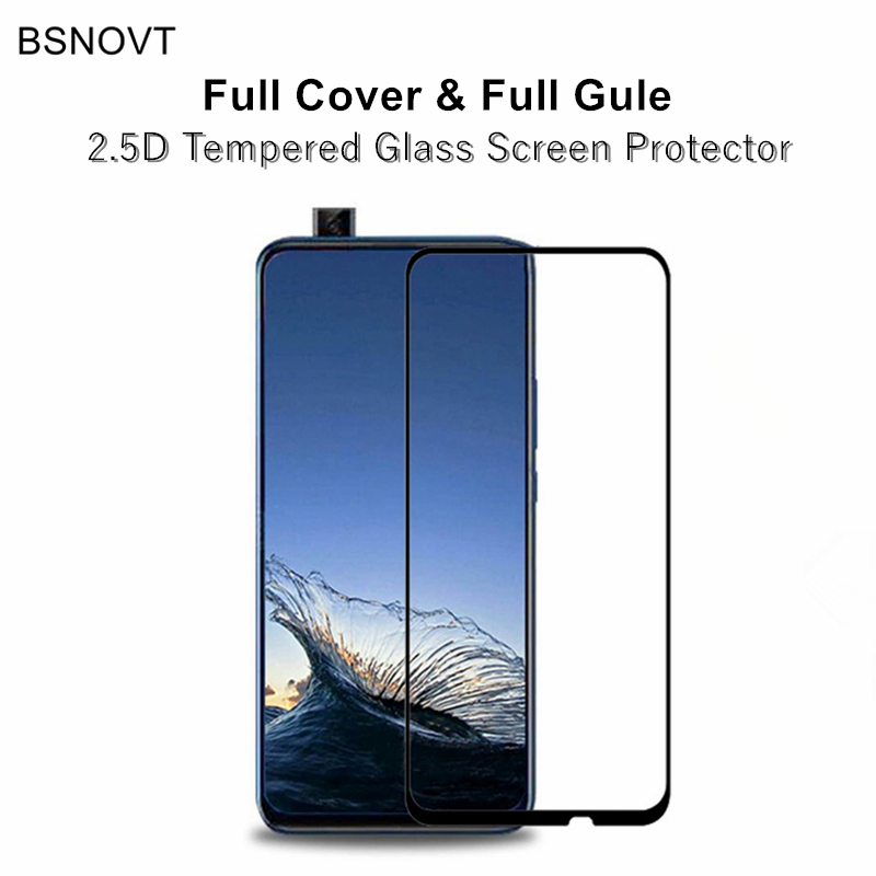 2pcs Full Cover & Full Glue Screen Protector For Huawei P Smart Z Tempered Glass Full Cover Glass For Huawei Y9 Prime 2019 Film