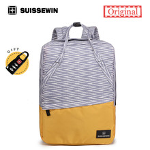 Suissewin бренд рюкзак Для женщин Швейцарский Mochila Feminina multi-карман рюкзак для подростков девочек стильный розовый школьный SAC DOS