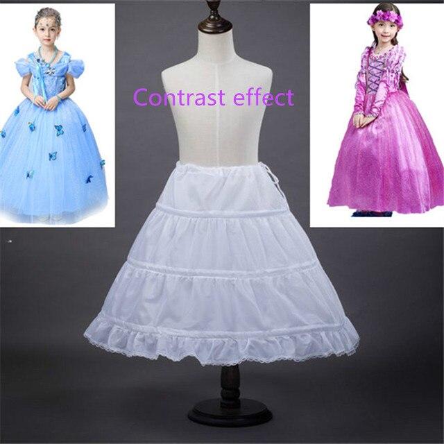 Nova A-line 3 Hoops Crianças Kid Vestido de Noiva Petticoat Underskirt Crinolina Acessórios Do Casamento Para O Vestido Da Menina de Flor