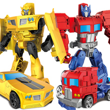 Anime Super hero Transformation Robot Car ABS Alloy action figure Deformation toys Model Boy birthday gift