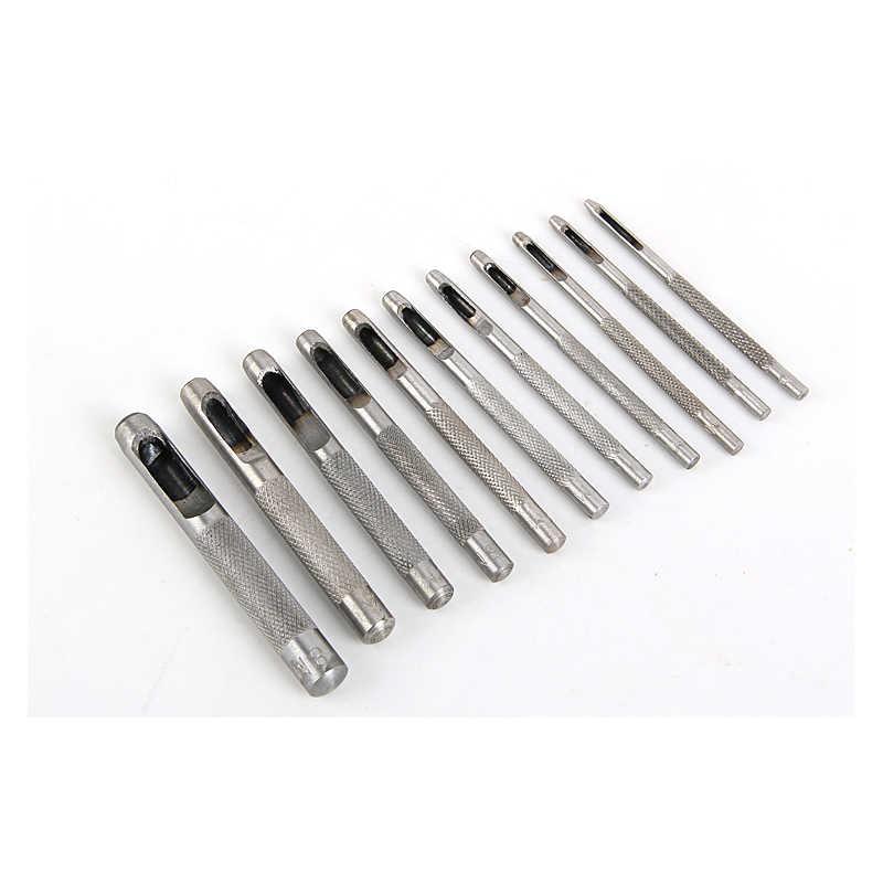 24 größe Pick Leder Werkzeuge Leder Punch Leathercraft Loch Handwerk Set Hohl Puncher Gürtel Punch 1,0mm-25mm für Kleidung Leinwand