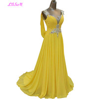 Элегантное Пышное Платье с кристаллами Длинные шифоновые вечерние платья для любимой подтяжки со шлейфом Вечерние платья vestido de noche