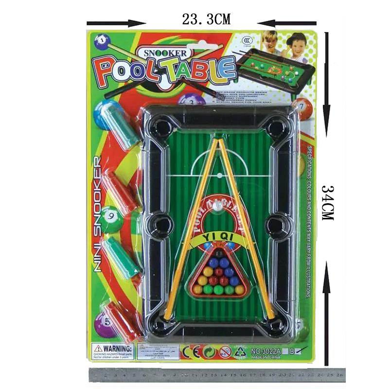 Sport Entertainment Indoor Board Game Pool Mini Plastic Billiards Table Fun Game Leisure Sports Toys for Kids
