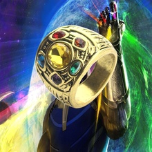 Movie Avengers: Final Thanos Ring of Power Cosplay Infinity Gauntlet, Men's Ring Halloween Action Figure B533 100% original bandai nxedge style [brave unit] action figure genesic gaogaigar from the king of braves gaogaigar final