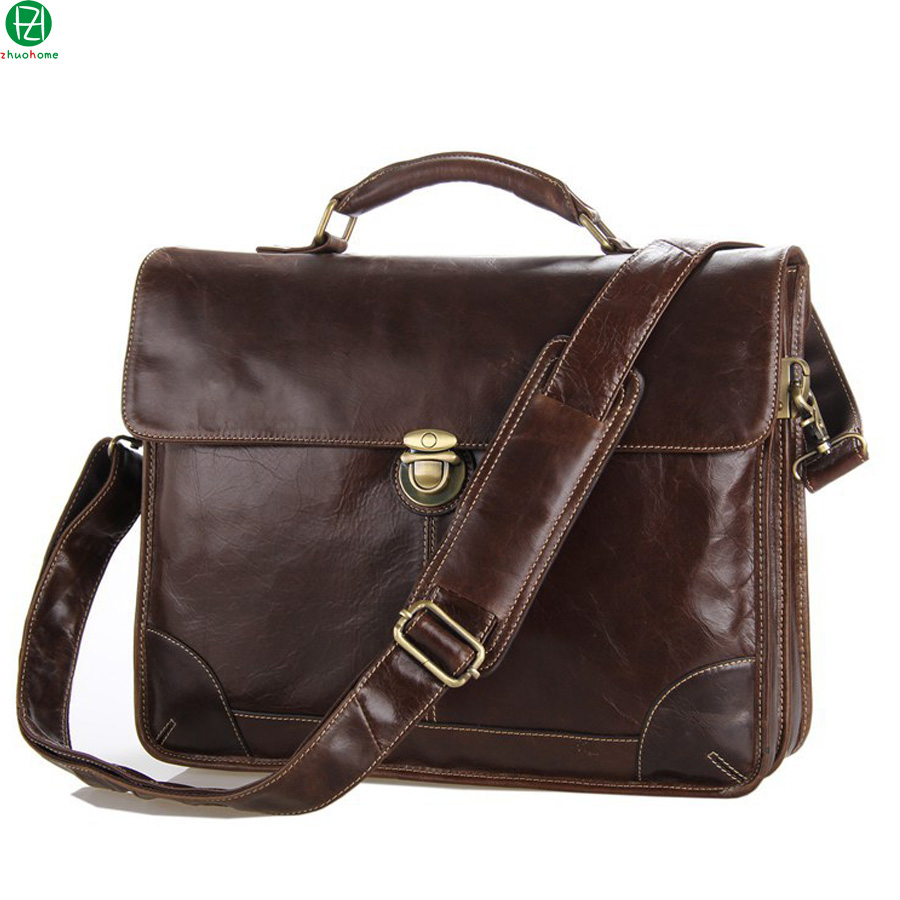 14 genuine leather men handbags England Style really cowhide men shoulder messenger bags briefcase men crossbody