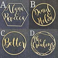 Персонализированные Свадебное Оформление кольца Стиль имя деревянный декор, мистер и миссис свадебное оформление декоративный обруч, фото...