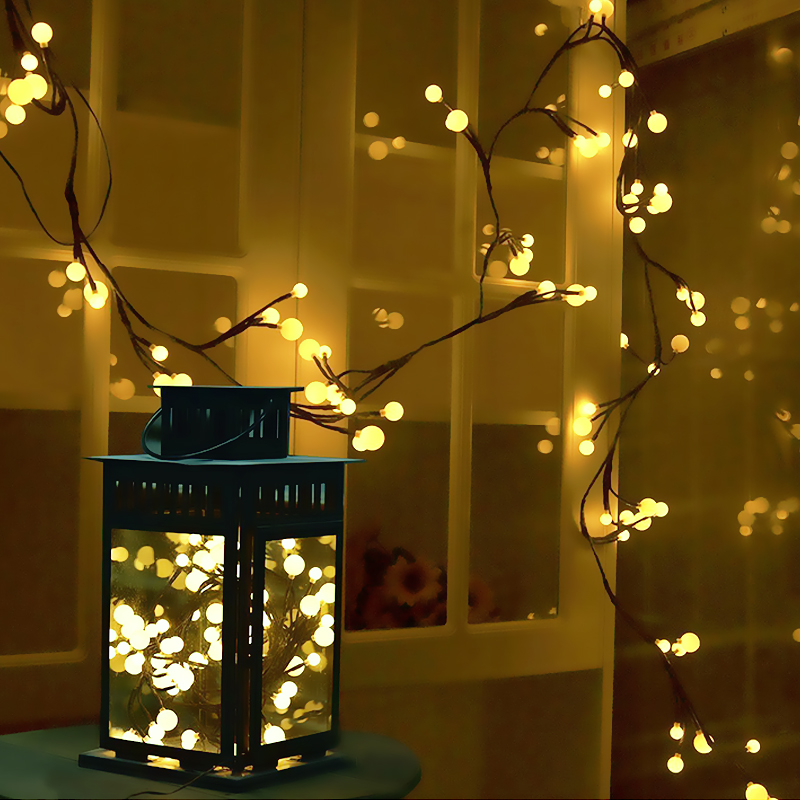 Sunny Eu Plug Romantic Solar Powered 30 Led String Light Garden Path Yard Decor Lamp Waterproof Pendant Drop Christmas Ornaments Delicacies Loved By All Home & Garden