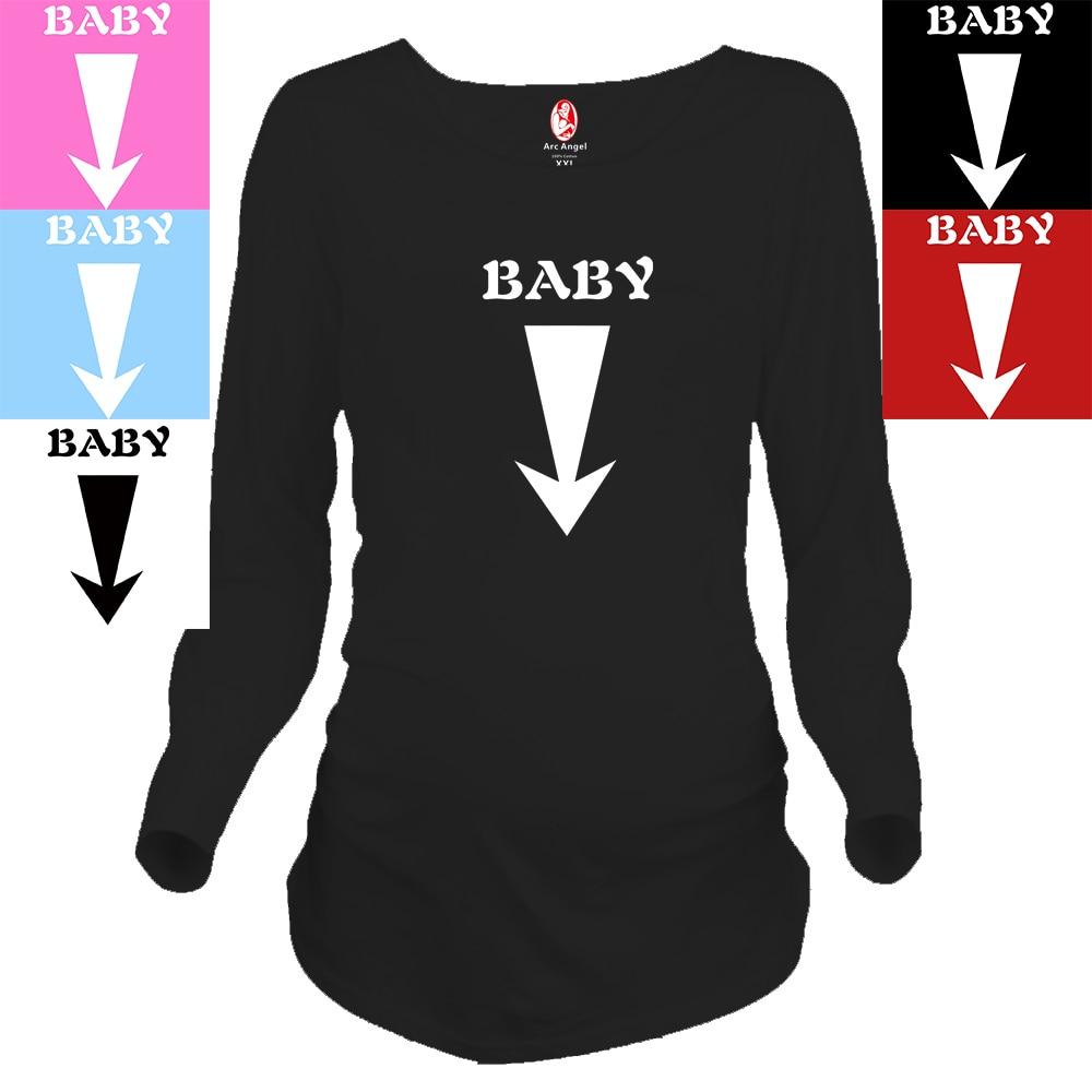 """2018 नई डिजाइन """"बेबी"""" में मातृत्व लंबी शर्ट गर्भवती महिलाओं के लिए विशेष आकार प्लस यूरोपीय बड़े आकार XXL"""