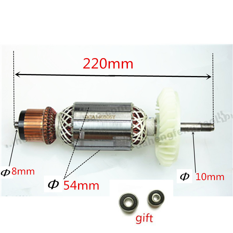 AC220-240V Rotor Motor Armature Replacement for Bosch GWS23-180 GWS23-180S GWS GWS23-180+SDS GSW23-180J GWS23-180JS GWS23-230 ac 220 240v armature motor rotor replacement for bosch gbm500re gsb450re psb400re gsb13re gbm400re armature parts engine