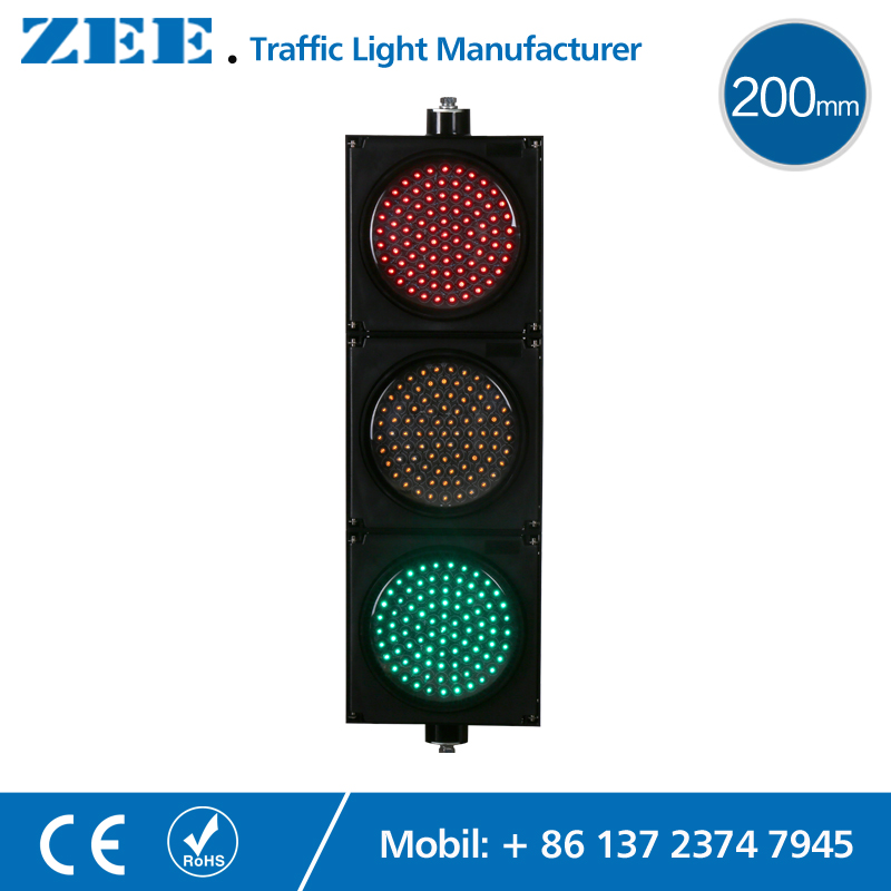 8 inches 200mm LED Traffic Light Red Yellow Green LED Traffic Signal Light led electronic traffic lane control signal traffic lane indicator light with red cross