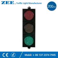 8 Inches 200mm LED Traffic Light Red Yellow Green LED Traffic Signal Light