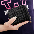New brand 2016 Fashion Clutch Wallet Lady Women pu Leather Purse Short Small Bag For women solid color Card Holder free shipping