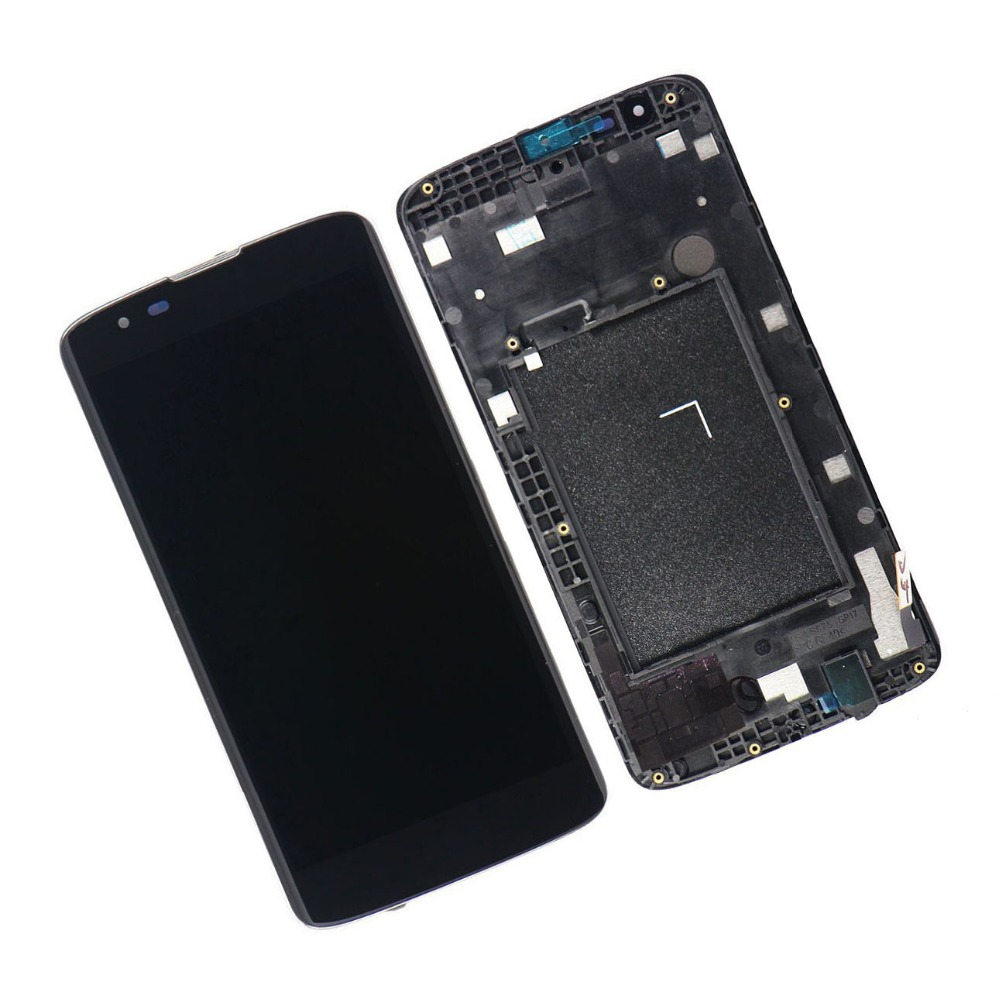 New LCD Display Screen With Touch Digitizer Assembly For LG K7 LG Tribute 5 MS330 with frame free shipping new lcd touch screen digitizer with frame assembly for lg google nexus 5 d820 d821 free shipping
