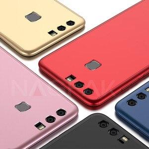 Image 2 - Роскошный 360 градусов Защита Полный чехол для телефона для huawei P10 P9 P8 Lite противоударный чехол honor 9 9 Lite 8 чехол стекло