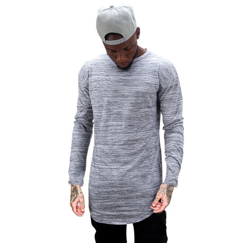Tx144 Mens Hip Hop T Shirt Full Long Sleeve T Shirt With