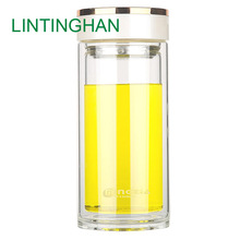 With protective cover cup stainless steel filter double glass insulation food grade silicone sealing tape