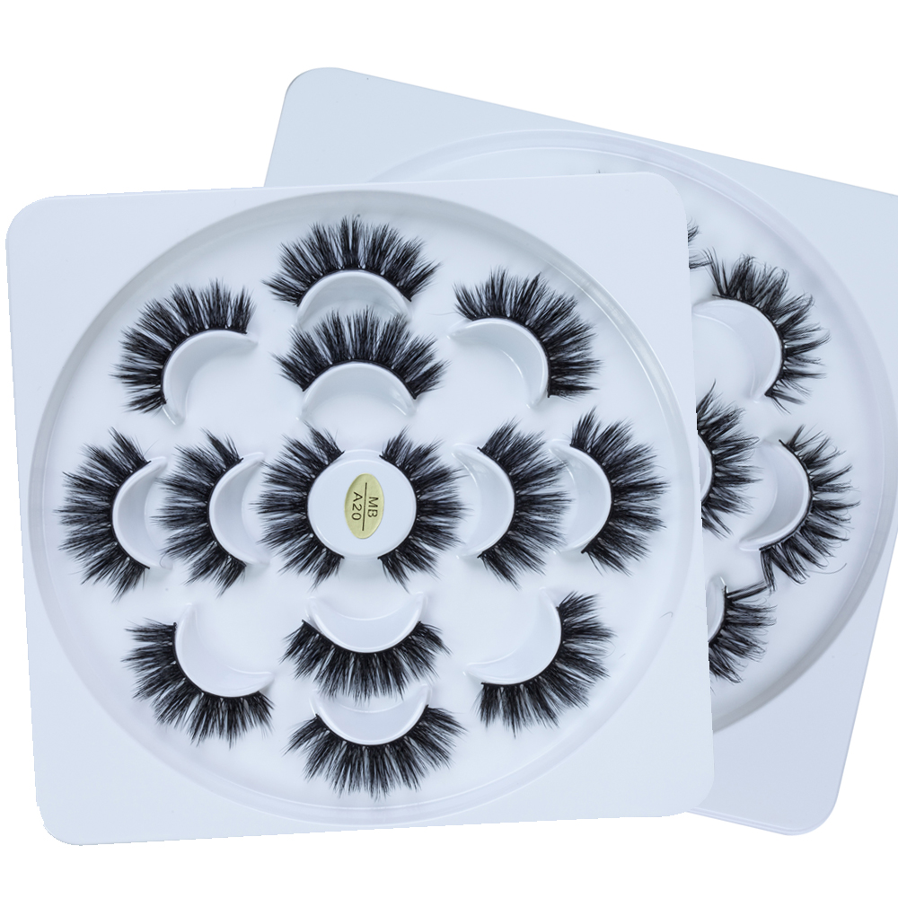 MB 5/7 Pairs Mink Eyelashes 3D Fake Lashes Long Makeup Mink Eye Lashes  Extension 8D False Eyelashes For Beauty