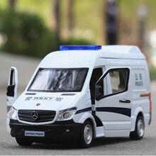 1:36 сплав Mercedes скорой помощи модель автомобиля со звуковым светом оттяните назад металлические автомобили игрушечные модели машин детский подарок бесплатная доставка