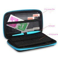 Carbon Fiber Carrying Case With Stylus Screen Protector Film 8x Game Card Cases For New 2DS
