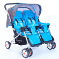 New Arrival Cheap Luxury Aluminum Foldable Twin Baby European Stroller Infant Prams and Pushchairs Two Seat Free Shipping