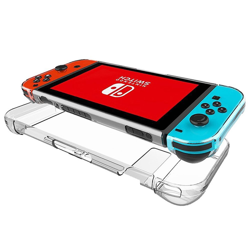 Back Hard Plastic Protection Split Crystal Cover Case For Nintendo Swtich NS nintend switch Controller Transparent Crystal Cover