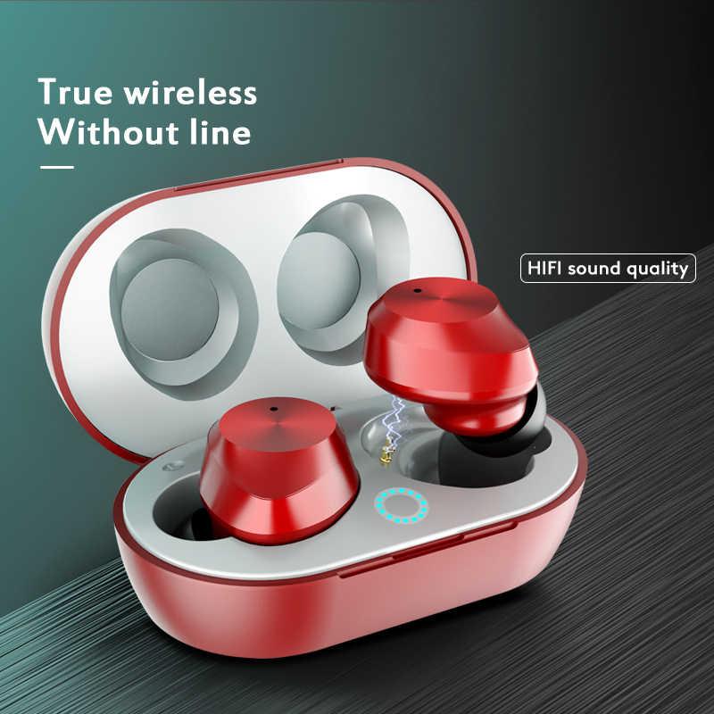 Arlado TWS-9 słuchawki Bluetooth słuchawki douszne Mini dotykowy bezprzewodowy zestaw słuchawkowy z okno ładowania IPX5 wodoodporna Airpods dla inteligentnego telefonu