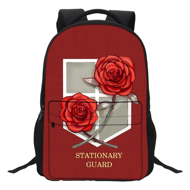 VEEVANV Cartoon Children Bookbag Fashion Attack on Titan School Backpacks  Teenage Mochila Girls Shoulder Bags Casual 554bd14150e42
