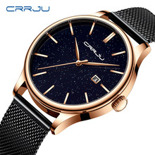 18ccf38f8764 Nueva moda de CRRJU relojes de marca de oro rosa de acero inoxidable relojes  mujer vestido
