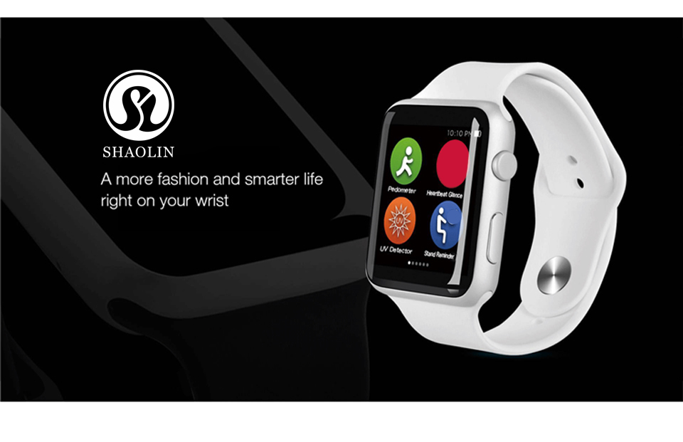 SHAOLIN Bluetooth Smart Watch Heart Rate Monitor Smartwatch Wearable Devices for iPhone IOS and Android Smartphones apple watch-1