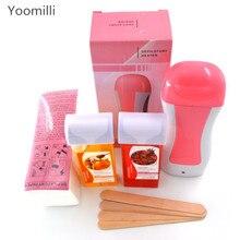 Depilador depilatório parafina aquecedor de cera depilação máquinas de depilação * 1 + cera * 2 + papel depilação * 100 + madeira * 4