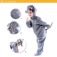 Lovely Kids Unisex Children Kigurumi Pajamas Anime Cosplay Costume Onesie Elephant