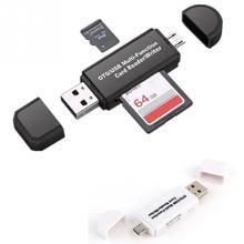 Thẻ Nhớ lưu trữ Viết Thiết Bị Đọc USB OTG sang USB 2.0 Adapter SD TF Đầu Đọc Thẻ Dành Cho Điện Thoại MÁY TÍNH Máy Tính Bảng