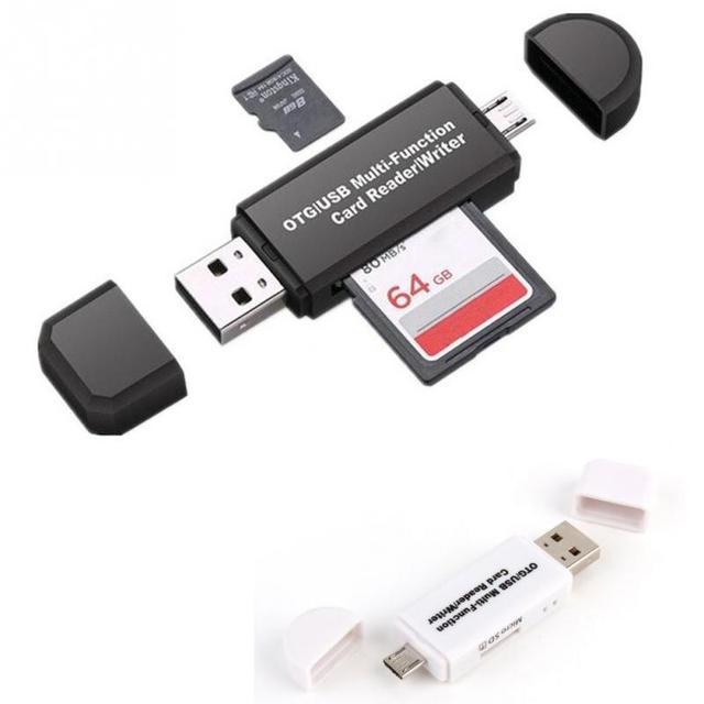 אחסון כרטיס כתיבת קריאת מכשיר מיקרו USB OTG ל usb 2.0 מתאם SD TF כרטיס קורא עבור טלפון מחשב לוח