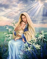ZOOYA Diamond Embroidery 5D DIY Diamond Painting Our Lady And Son Diamonds Painting Cross Stitch Rhinestone