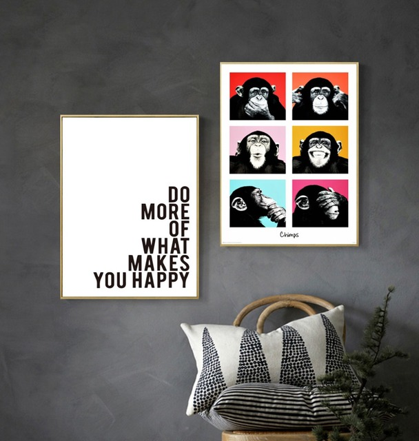 Prime Us 4 0 New Home Decor Frameless Abstract Monkey Letter Photo Painting Spray Oil Painting Wall Art House Decor In Painting Calligraphy From Home Download Free Architecture Designs Embacsunscenecom