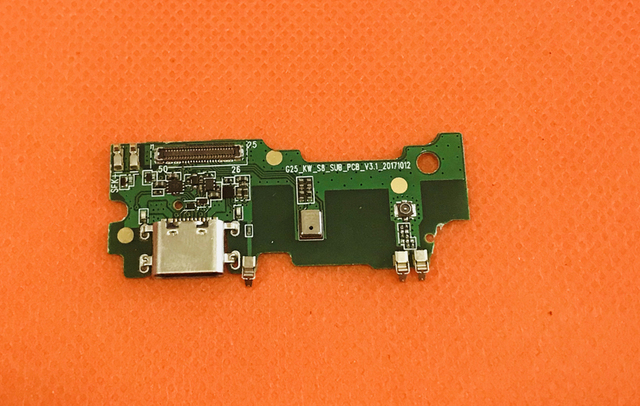 Used Original USB Plug Charge Board+MIc microphone For Umidigi S2 Lite MT6750T Octa Core Free shipping