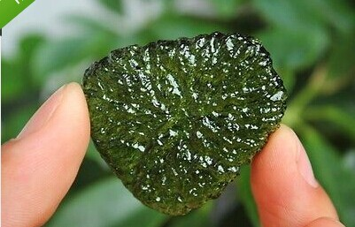22g Natural MOLDAVITE Green Tektite Czech Republic