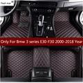 Кожаный коврик для вспышки  автомобильные коврики для Bmw 3 серии F20 2000-2018  автомобильный коврик под заказ